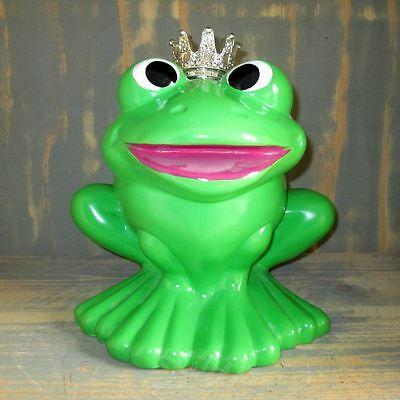 FROSCHKÖNIG mit KRONE 31 cm Deko Garten Tier Figur Skulptur Teich Frosch Märchen