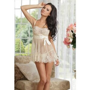 Satin and Lace Babydoll