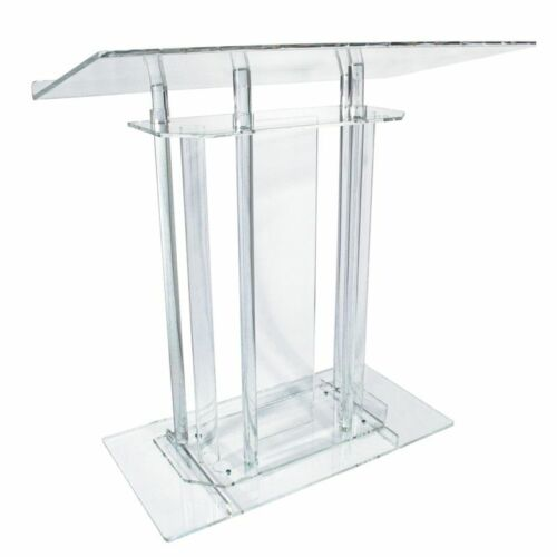 Large Acrylic Clear Classic Column Lectern, Podium or Pulpit