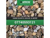20mm quarts gravel
