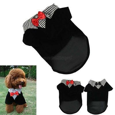 Clothing for dogs Puppy Pet Dog Clothes Cotton Western Style Male Suit & Bow - Dog Suits