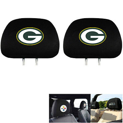 - New Team ProMark NFL Green Bay Packers Head Rest Covers For Car Truck Suv Van
