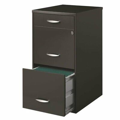 Pemberly Row 3 Drawer File Cabinet In Charcoal
