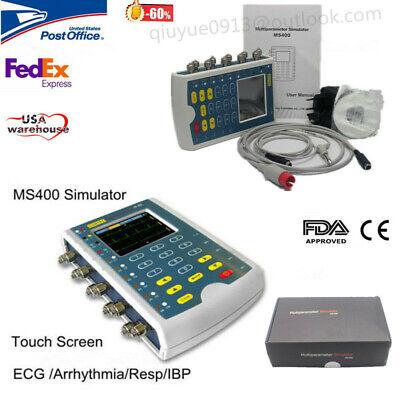 Ms400 Multiparameter Simulator 12-lead Ecg Respiration Temp Ibp Patient Monitor