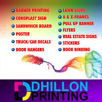Banner, Decals, Signs, Flyers printing 5000 Flyers $299 Bus $199