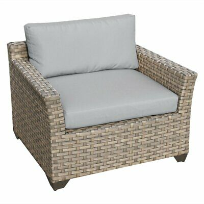 TKC Monterey Patio Wicker Club Chair in Gray