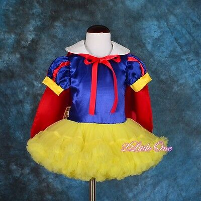 Snow White Fancy Dress Cape Dance Costume Party Halloween Baby Girl Sz 9m-5 - Snow White Toddler Halloween Costume
