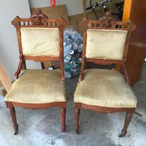 Antique Vintage Chairs (2 pc)