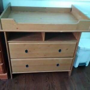 Crib/toddler bed, clothing chest/changing table