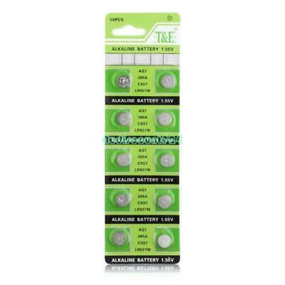 10 Pieces AG7 L927 395 SR57 SR927SW 195 Button Coin Cell Alkaline...