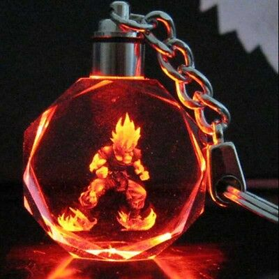 - Dragon Ball Z Dragonball Super Saiyajin Goku Crystal LED Light Keychain Pendant