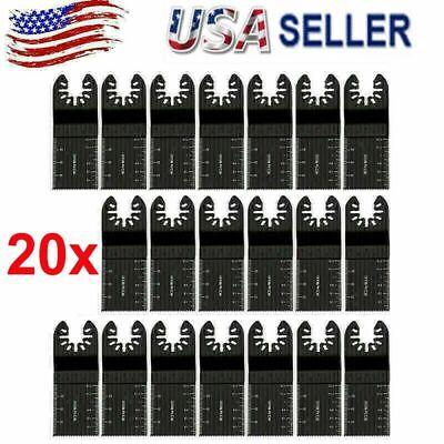 20pcs Universal 34mm Oscillating Multi Tool Saw Blades Carbon Steel Cutter Diy