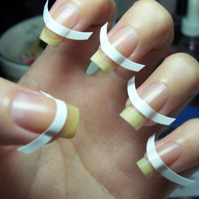 480 pcs French Manicure Nail Art Tips Form Guide Sticker Polish DIY Stencil LN