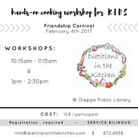 Hands on cooking class (KIDS) - Dietitians in the Kitchen
