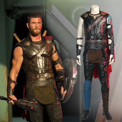 Movie Thor: Ragnarok Thor Odinson Full Set Outift Halloween Cosplay Costume](Thor Movie Costumes)