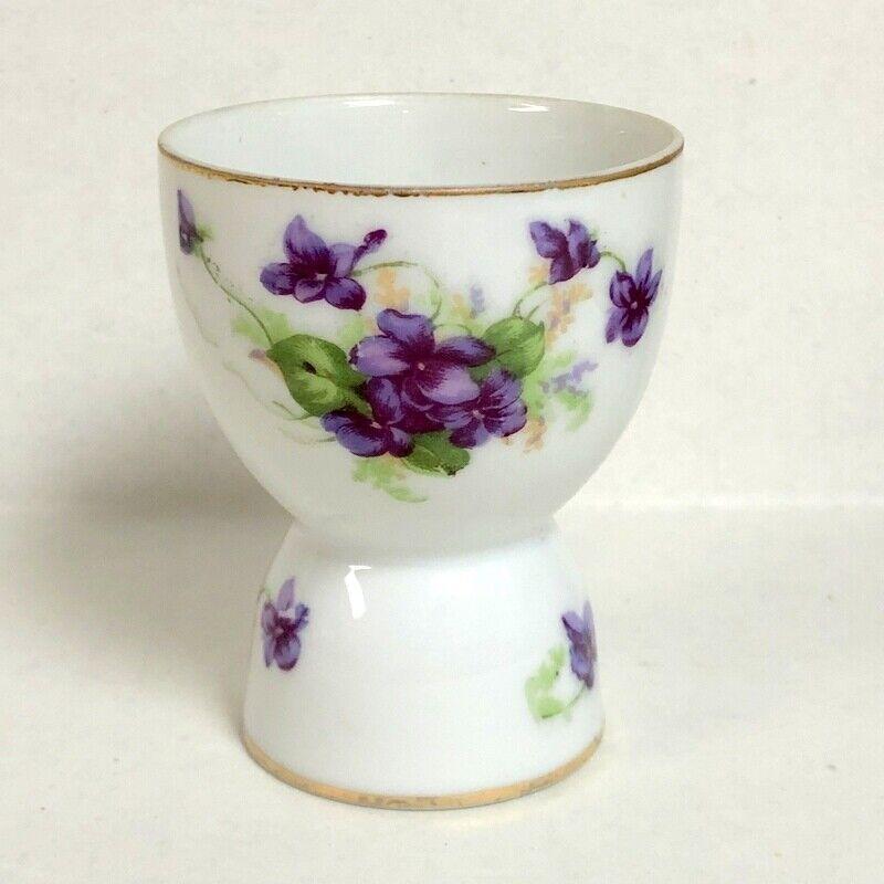 Lefton Violets Egg Cup
