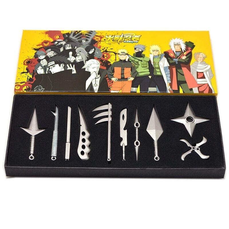 New Anime Naruto Kakashi Uzumaki Weapon Cosplay Pendant Collection Gift 10pcs