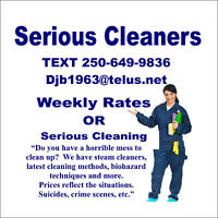Serious Cleaners Available for Extreme Cleaning Situations