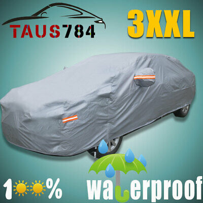 Full Car Cover Waterproof Breathable All Weather Protection Anti Dust Scratch US