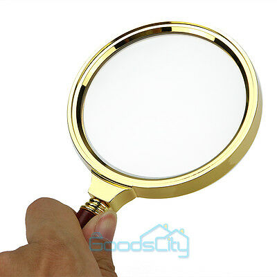 "90mm/3.6"" Handheld 10X Magnifier Magnifying Glass Loupe Reading Jewelry"