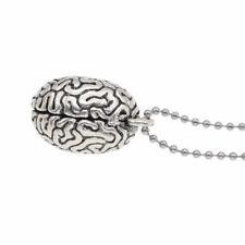 Human Anatomical Brain Bead Pendant Necklace Jewelry Sweater Chain Decoration
