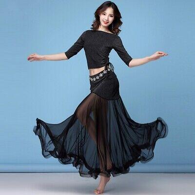 Damen Bauchtanz Kleid Moderne Rüschen Swing Netz Ballsaal - Moderne Bauchtanz Kostüme