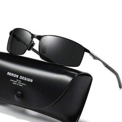 Herren Fahren Sonnenbrille Polarisiert 100% UV 400 Schutz - Schwarze Brille