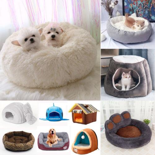 Süß Hundebett Warm Plüsch/Wildleder Tier Bett Hundekissen Katzen Höhle Hundekorb