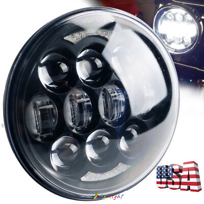"2018 Brightest 80W 5-3/4"" 5.75"" LED Daymaker Headlight for Harley Dadvison Motor"