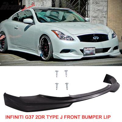 Fits 08-14 Infiniti G37 2Dr Coupe Q60 Type J Front Bumper Lip Urethane PU 08 Infiniti G37 Coupe
