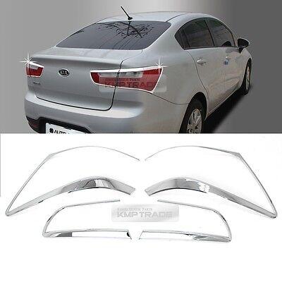 Chrome Rear Tail Light Lamp Molding Garnish Cover for KIA 12-17 Rio Pride Sedan