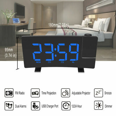 Electric Digital Dual Alarm Clock FM Radio Backup LED Large Display Snooze Clock
