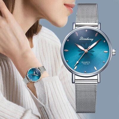 Women Luxury Wristwatches Metal Dial Flowers Bracelet Quartz Wrist Watch Gift Dial Metal Quartz Watch