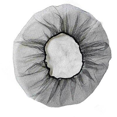 "Shield Safety 18"" Black Restaurant Medical Sleep Nylon Hair Net Cap 100 Pieces"
