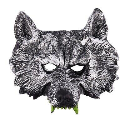 1X(Graue Wolf Kopf Maske fuer Rollenspiel Halloween Maskerade - Wolf Maskerade Maske