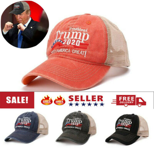 Trump Hat Keep America Great 2020 President Mesh Hat Adjustable Baseball Cap Br