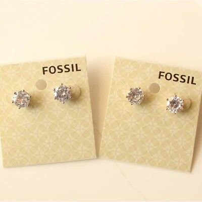 Fossil Round Earrings - New Fossil Round CZ Stud Earrings Gift Fashion Lady Party Jewelry 2Colors Chosen