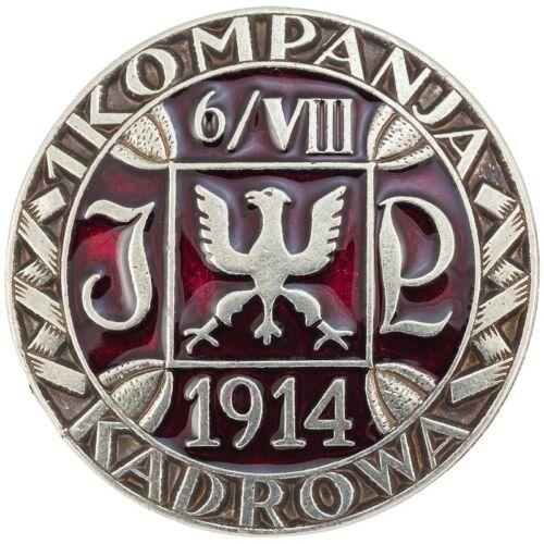 Polish Army WW1 - pre WW2 Pilsudski Legions 1st Cadre Rifle Company metal badge