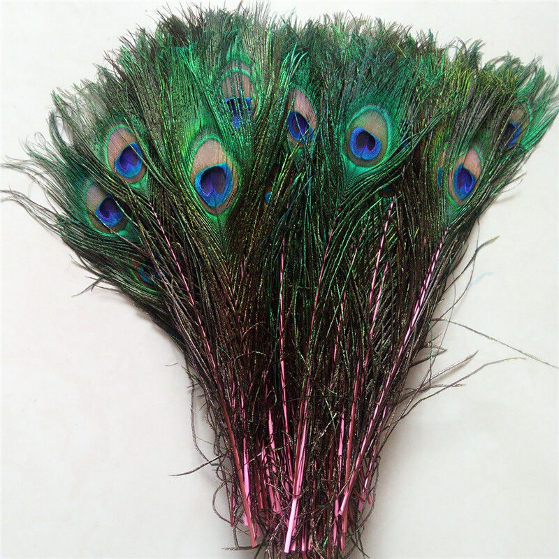10-100pcs natural peacock feather 25-30 cm 10-12 inches free shipping