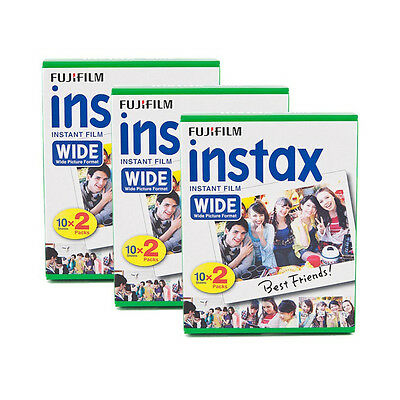 3 Packs 60 Instant Photos Fuji FujiFilm Instax Wide Film Polaroid Camera 200 210, used for sale  Shipping to Canada