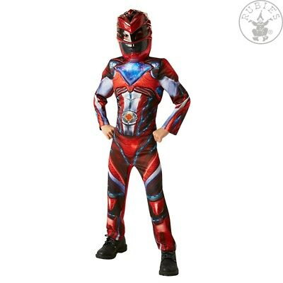 r Ranger Rot 2017 Deluxe Kinder Lizenz Kostüm  (Red Ranger Deluxe Kostüm)