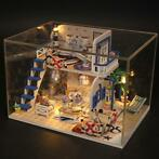Hoomeda M032 Blue Seasidet DIY House met meubels Music Light