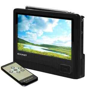 "New 7"" portable digital tv with tv tuner & rechargeable battery"