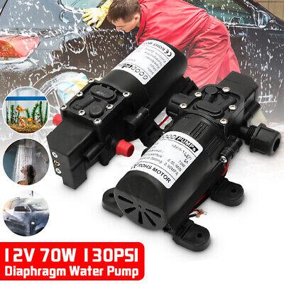 130psi 6lmin Water High Pressure Diaphragm Pump Self Priming Dc12v 70w Fl-3308