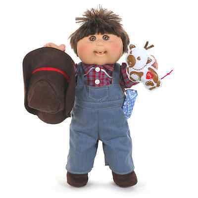 "Cabbage Patch Kids 16"" Country Kid Boy Brown Hair Brown Eyes w/Plush  -NIB"