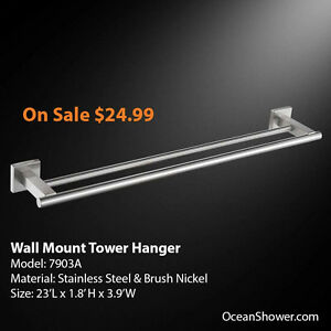 Wall Mounted Towel Rack / Shelf / Holder Stainless Steel London Ontario image 2