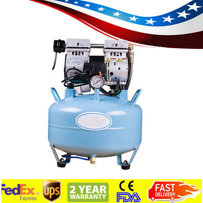 32l Dental Medical Silent Noiseless Oil Free Oilless Air Compressor Unit Motor A