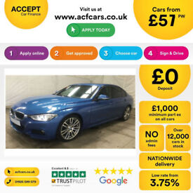 Blue BMW 330 3.0TD Auto 2013 d M Sport FROM £57 PER WEEK!