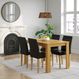New dining table with 4 chairs
