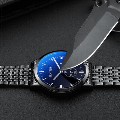 Luxury Business Men's Watch Stainless Steel Watches Analog Slim Waterproof Date